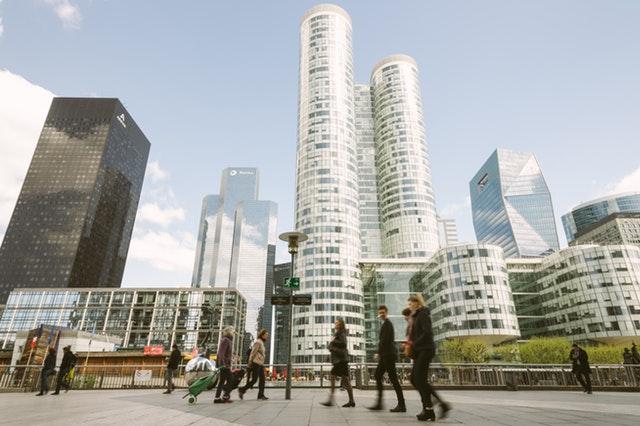 Business zone pedestrian area